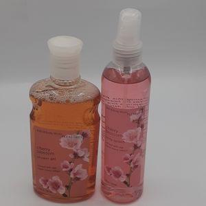 Bath & Body Works Cherry Blossom Gel & Spray Set